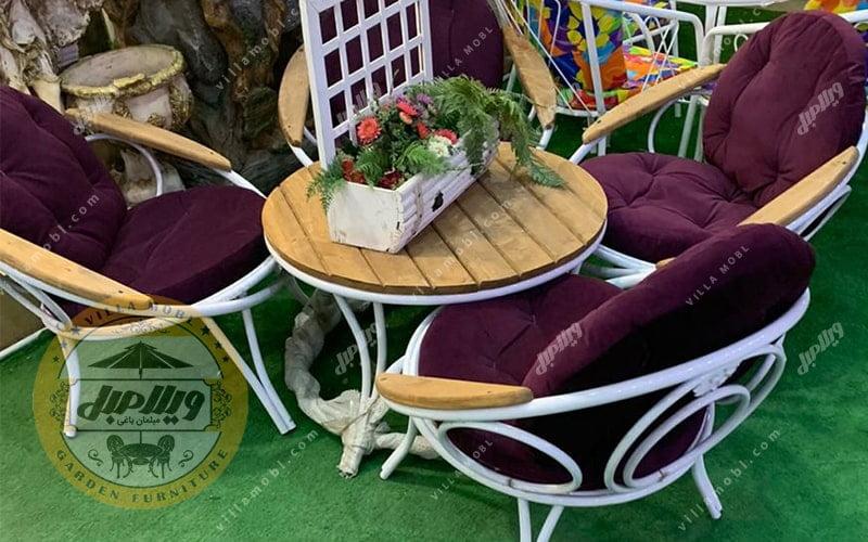 مبل باغی و میز و صندلی ویلایی مدل ارغوان