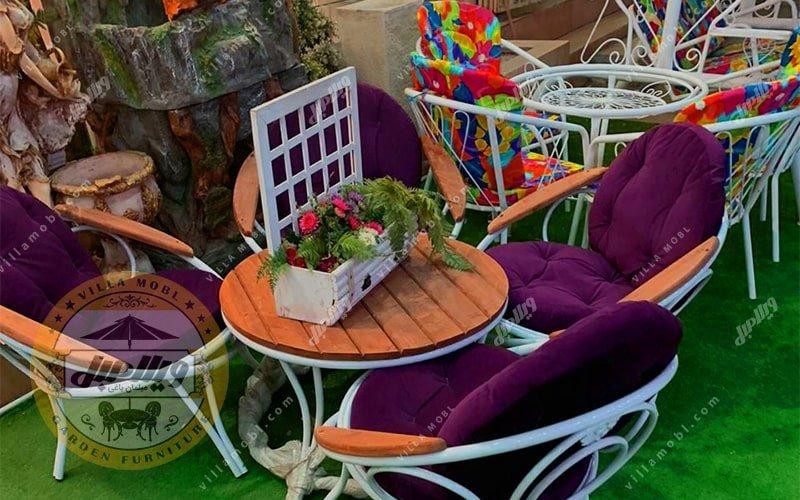 مبل باغی و میز و صندلی ویلایی ارغوان