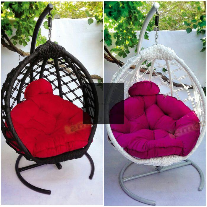 صندلی آویزی مدل مونیخ بافت کامل