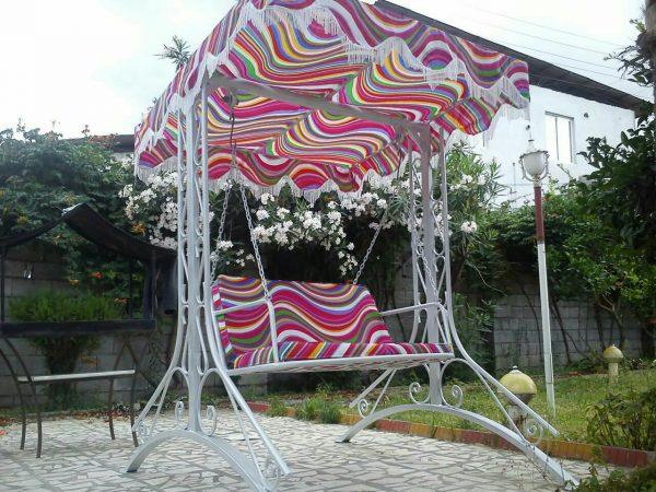 باغی تاب فلزی تاب ویلایی تاب آهنی 1 600x450 - تاب باغی مدل ایفل کد1
