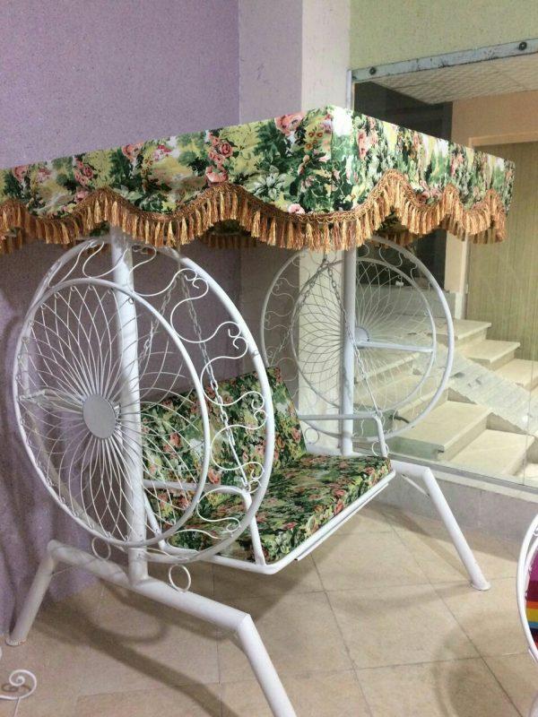 باغی تاب ویلایی تاب آهنی حیاطی 14 600x800 - تاب باغی مدل گلبرگ یا ماهواره کد2
