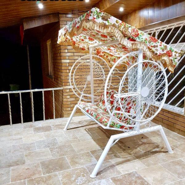 باغی تاب ویلایی تاب آهنی حیاطی 2 600x600 - تاب باغی مدل گلبرگ یا ماهواره کد2