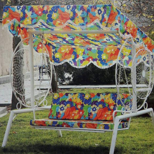باغی تاب ویلایی تاب آهنی حیاطی 7 600x600 - تاب باغی مدل گلبرگ یا ماهواره کد2