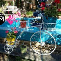 فلزی آهنی 200x200 - دوچرخه جاگلدان فلزی رنگ کوره ای