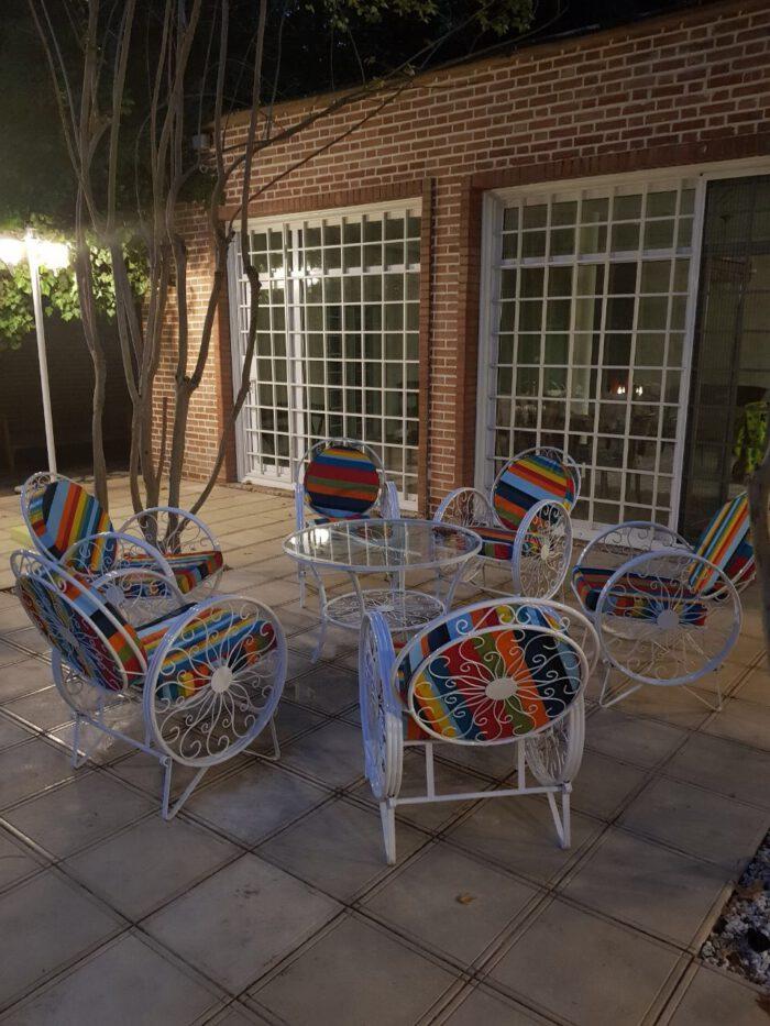 باغی صندلی ویلایی میز حیاطی 14 700x933 - مبلمان باغی ویلایی مدل کالسکه فرفورژه کد3