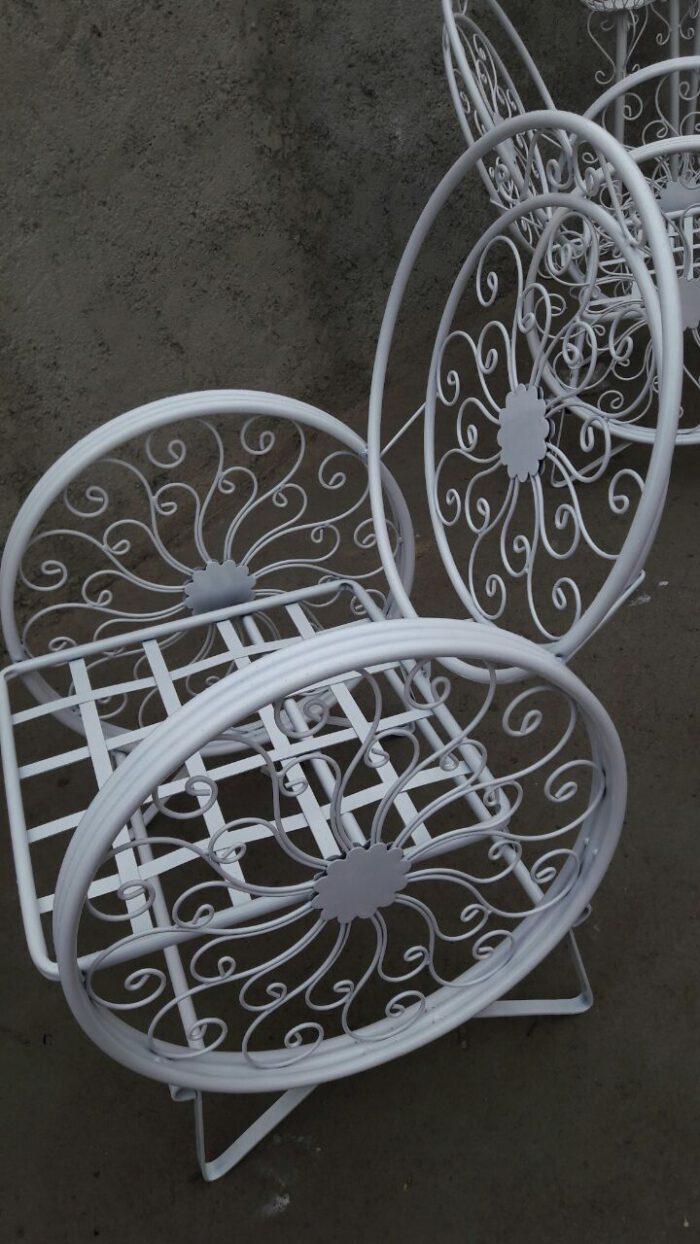 باغی صندلی ویلایی میز حیاطی 19 700x1244 - مبلمان باغی ویلایی مدل کالسکه فرفورژه کد3