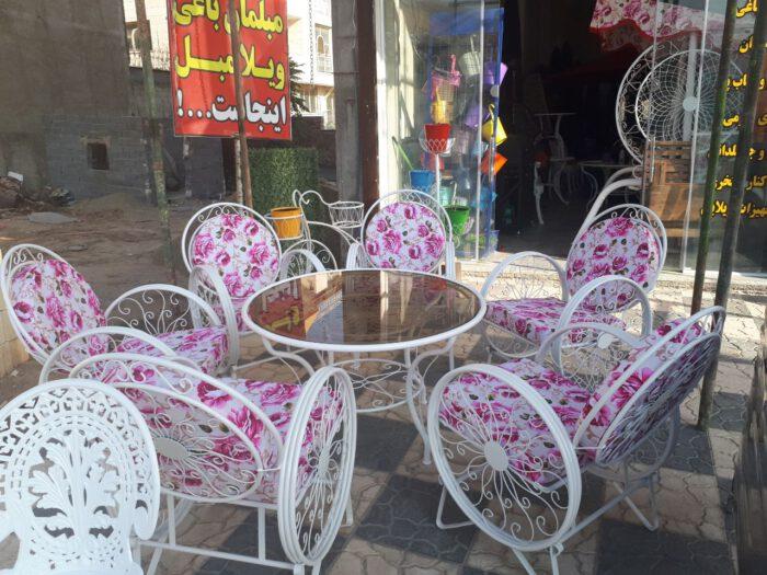 باغی صندلی ویلایی میز حیاطی 23 700x525 - مبلمان باغی ویلایی مدل کالسکه فرفورژه کد3