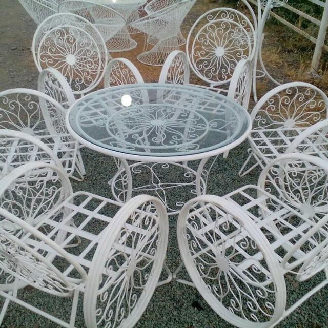 باغی صندلی ویلایی میز حیاطی 24 - مبلمان باغی ویلایی مدل کالسکه فرفورژه کد3