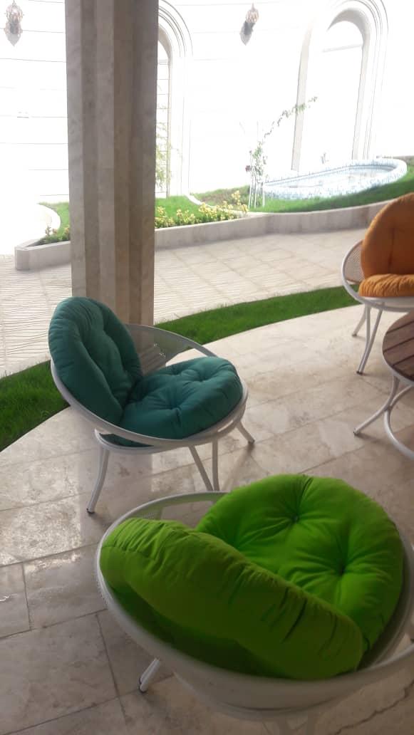 باغی مبلمان ویلایی مبلمان فضای باز حیاطی 1 - مبلمان باغی فلزی مدل ارغوان کد8