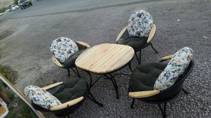 باغی مبلمان ویلایی مبلمان فضای باز حیاطی 3 700x394 - مبلمان باغی فلزی مدل ارغوان کد8