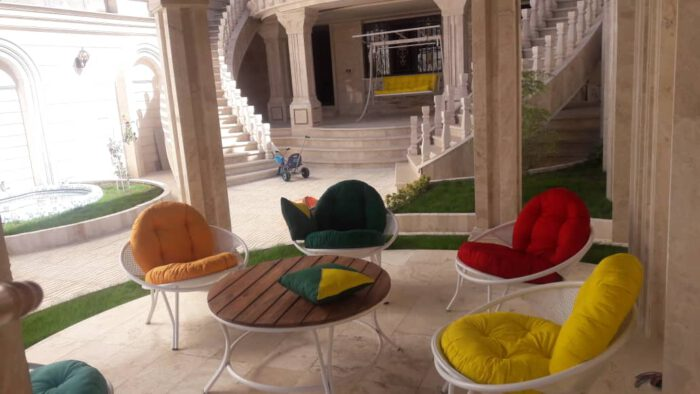 باغی مبلمان ویلایی مبلمان فضای باز حیاطی 31 700x394 - مبلمان باغی فلزی مدل ارغوان کد8