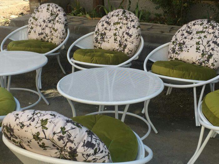 باغی مبلمان ویلایی مبلمان فضای باز حیاطی 5 700x525 - مبلمان باغی فلزی مدل ارغوان کد8