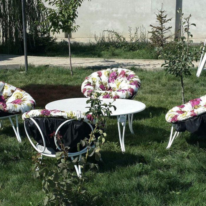 باغی مبلمان ویلایی مبلمان فضای باز حیاطی 6 700x700 - مبلمان باغی فلزی مدل ارغوان کد8