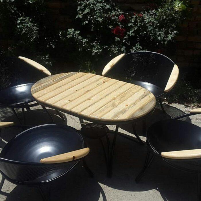 باغی مبلمان ویلایی مبلمان فضای باز حیاطی 7 700x700 - مبلمان باغی فلزی مدل ارغوان کد8