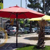 چتر باغی سایه بان چوبی قطر چهار پایه وسط
