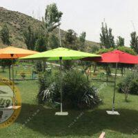 چتر باغی سایبان قطر چهار متر استیل