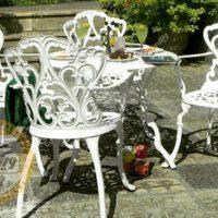 میز و صندلی باغی آلومینیومی مدالیوم دسته دار