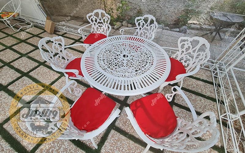 میز و صندلی باغی آلومینیوم مدالیوم دسته دار