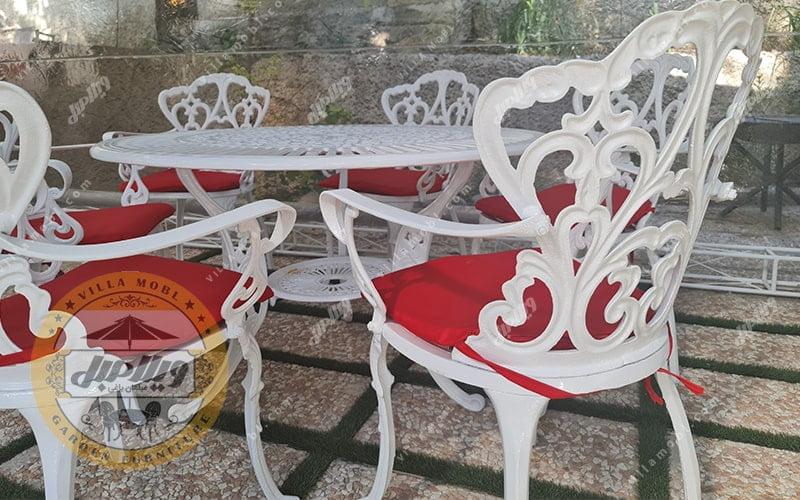 میز باغی آلومینیومی مدالیوم دسته دار