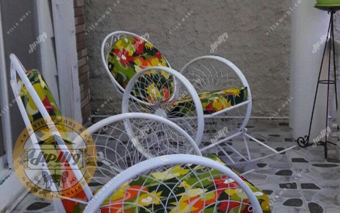 صندلی راک فلزی مدل گلبرگ
