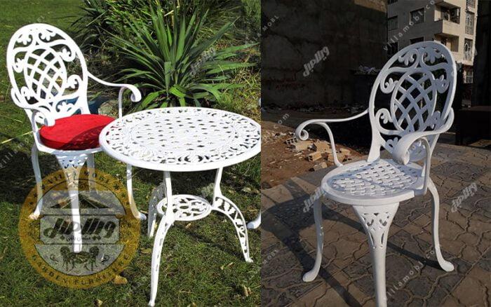 میز و صندلی باغی آلومینیومی تاج