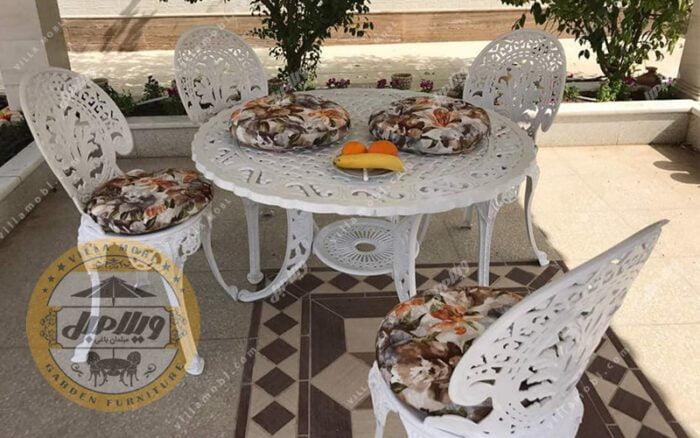 میز و صندلی طاووسی یا چکاوک آلومینیومی