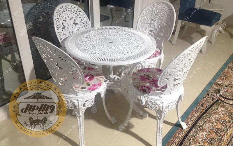میز و صندلی چکاوک آلومینیومی