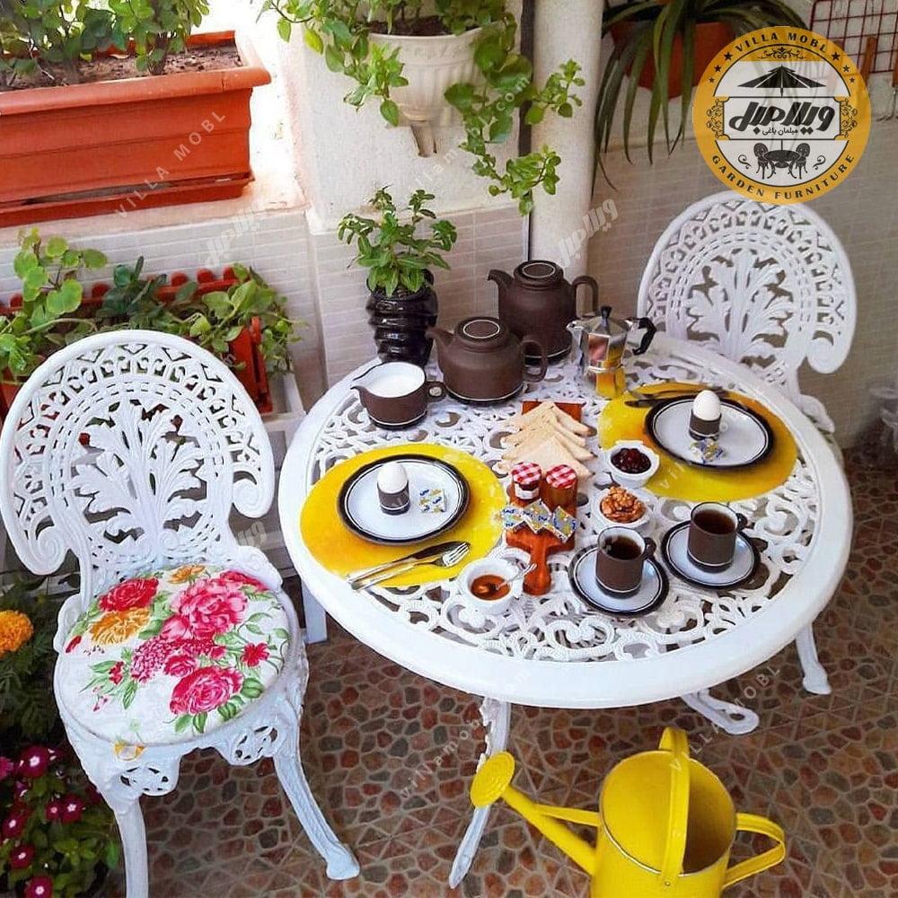میز طاووسی آلومینیومی