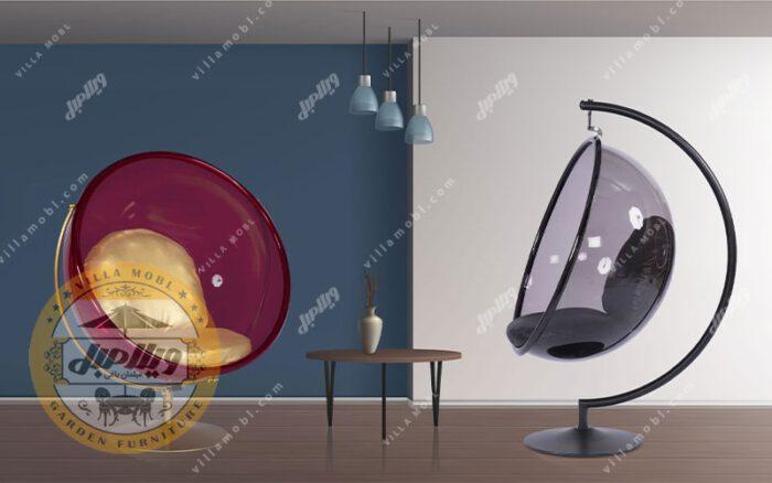 تاب شیشه ای و صندلی تابی
