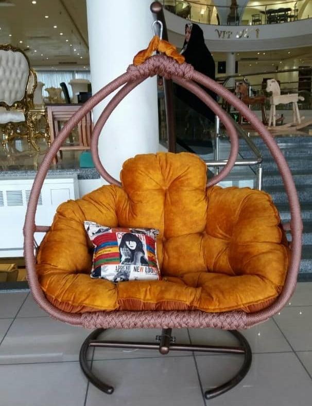 صندلی ریلکسی صندلی تابی تاب آویز - تاب ریلکسی نیومونیخ دو نفره ابریشم بافت