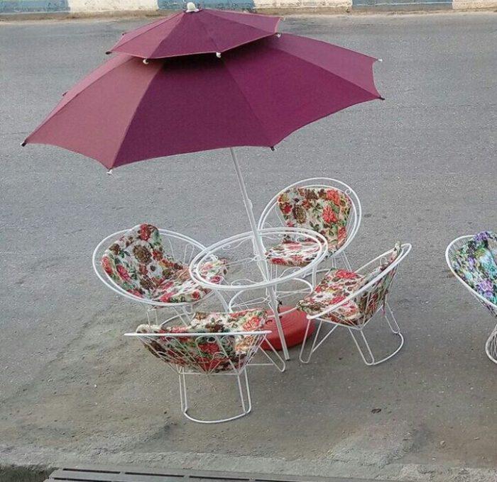 ویلایی مبلمان حیاطی میزوصندلی باغ 5 700x680 - مبلمان باغی ویلایی شعاعی کد9