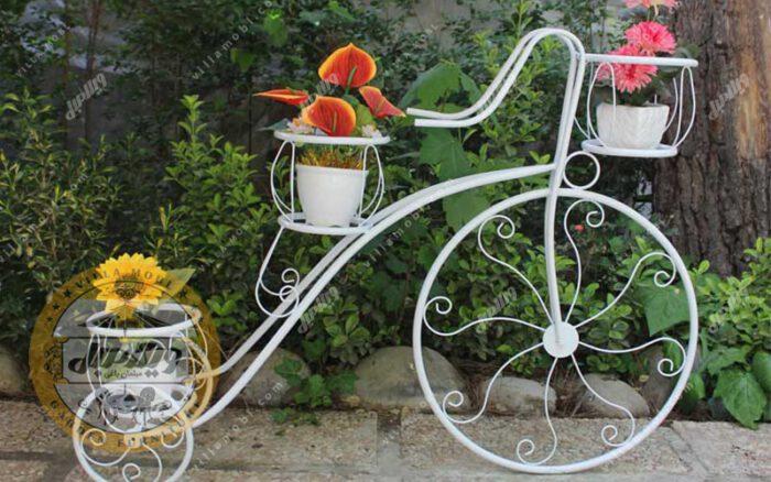 استند گلدان طرح دوچرخه