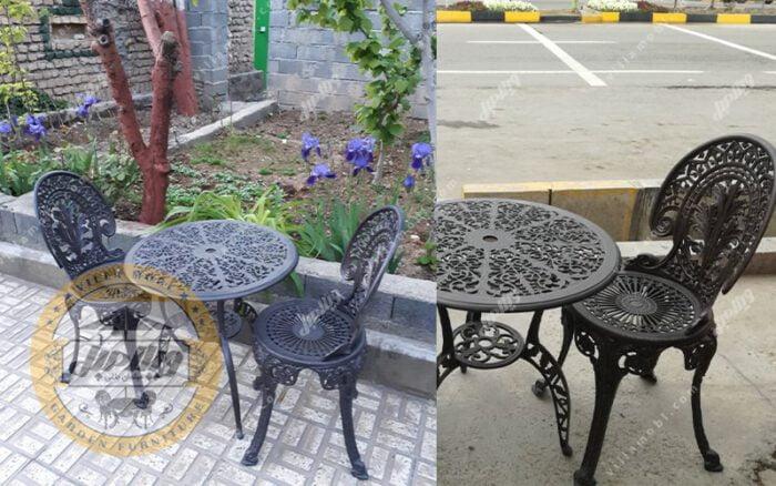 میز و صندلی باغی آلومینیومی چکاوک رنگ مشکی