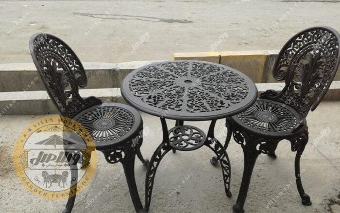 میز و صندلی باغی آلومینیومی چکاوک