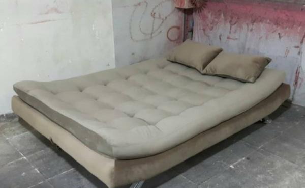 تختخوابشو مبل تختشو مبلمان راحتی تاشو 1 600x369 - کاناپه تختخوابشو دونفره بدون دسته مدل ایپک