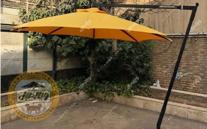 چتر باغی سایه بان پایه کنار قطر چهار متری