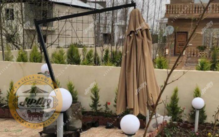 چتر باغی سایه بان پایه کنار قطر چهار متر