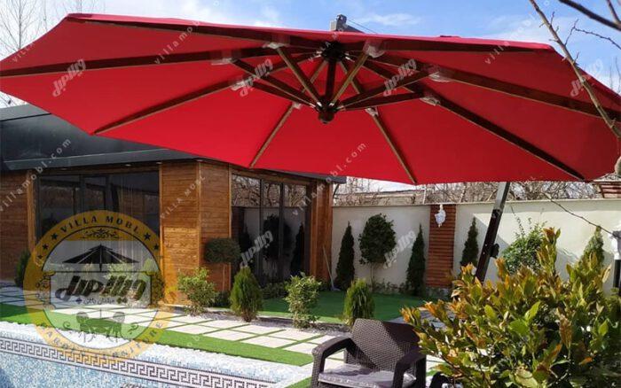 چتر باغی سایه بان پایه کنار چهار متری