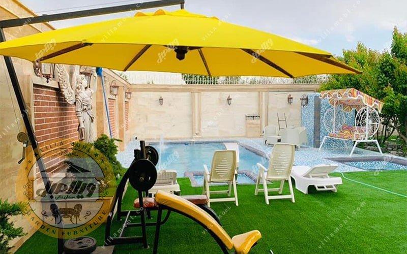 رنگبندی چتر باغی سایه بان پایه کنار قطر چهار متری