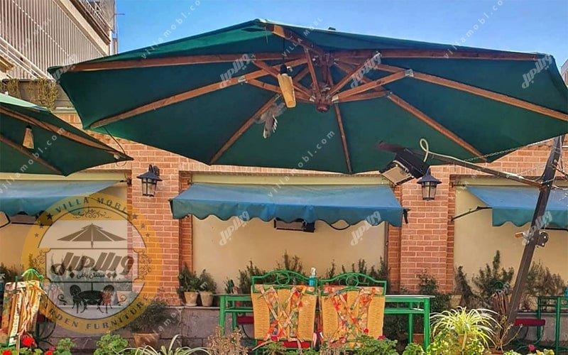 مشخصات چتر باغی سایه بان پایه کنار قطر چهار متری