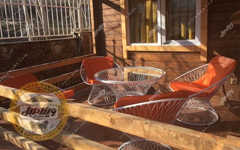 مبلمان باغی ویلایی مدل بامبو