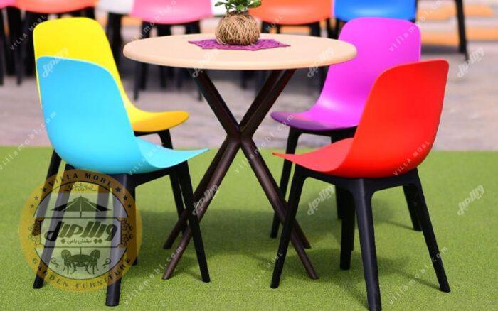 میز و صندلی طبی تیکا پلیمری 4 نفره