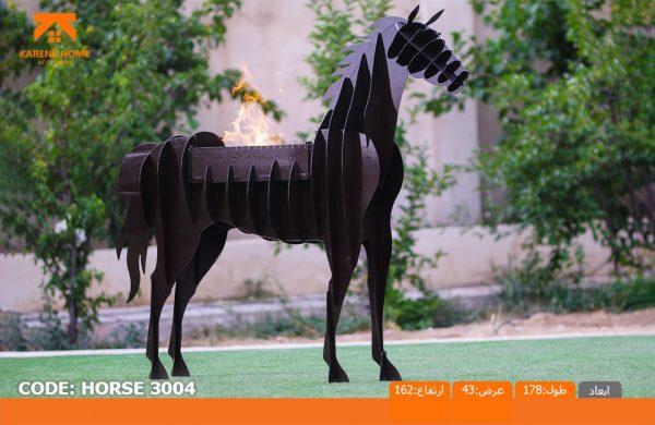و منقل و کبابپز طرح حیوان 11 600x390 - باربیکیو کارن مدل اسب