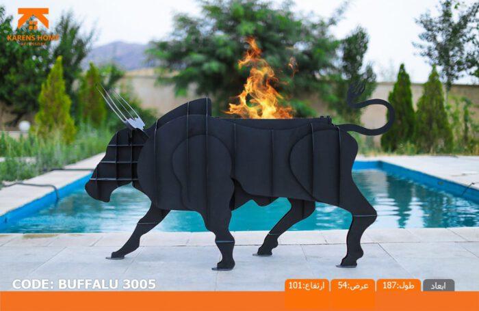 و منقل و کبابپز طرح حیوان 2 700x455 - باربیکیو کارن مدل بافالو