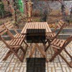 تاشو چوبی 150x150 - میزوصندلی چوبی تاشو 4سانتی
