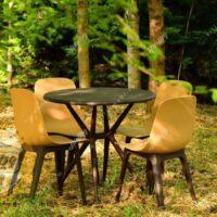 میز و صندلی طبی تیکا پلیمری چهار نفره