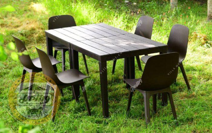 میز و صندلی طبی تیکا پلیمری 6 نفره