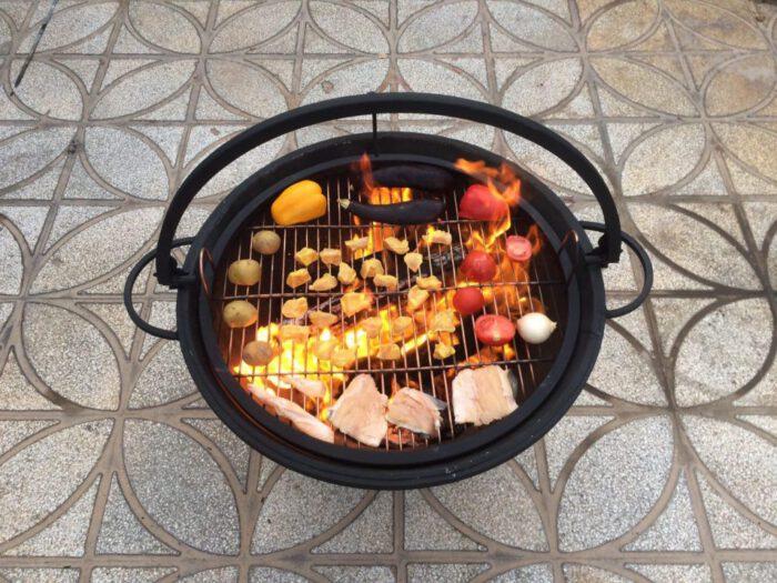 هیزم سوز و چوب سوز زغالی 4 700x525 - آتشدان هیزمی سوز و چوب سوز تیپ2 زغالی