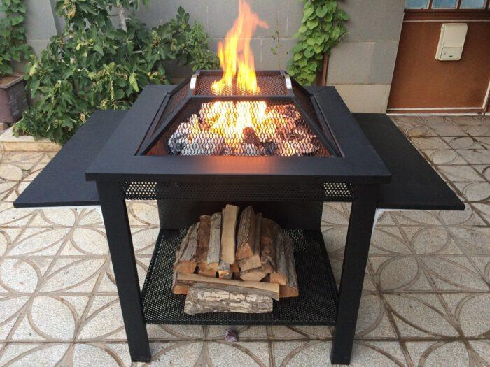 و آتشکده هیزم سوز چوب سوز باربیکیو 10 700x525 - آتشدان هیزمی سوز و چوب سوز تیپ3 مربع