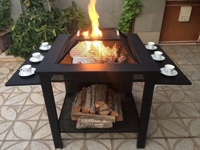 و آتشکده هیزم سوز چوب سوز باربیکیو 13 700x525 - آتشدان هیزمی سوز و چوب سوز تیپ3 مربع